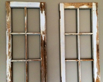6 Pane Vintage Window Frames