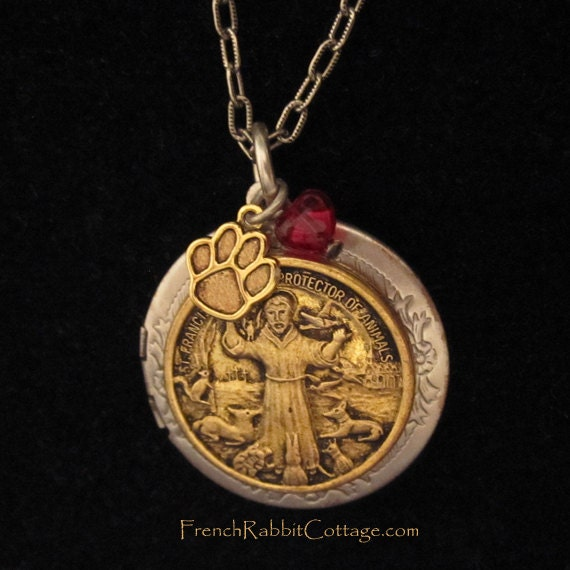 st francis of assisi necklace locket francis jewelry