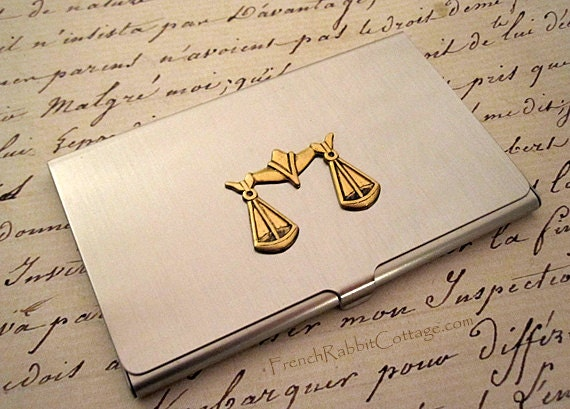 Attorney gift lawyer business card case law school graduate for Law school business cards