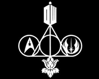 Wizard Doctor Sher Trek Wars Multi-Fandom Decal