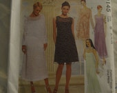McCalls 9145  Misses Dress and Slipdress Both in Two Lengths and Scarf Sewing Pattern - UNCUT  - Sizes 8 10 12