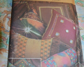 Simplicity 9314 Hippie Chic Pillows Sewing Pattern - UNCUT -