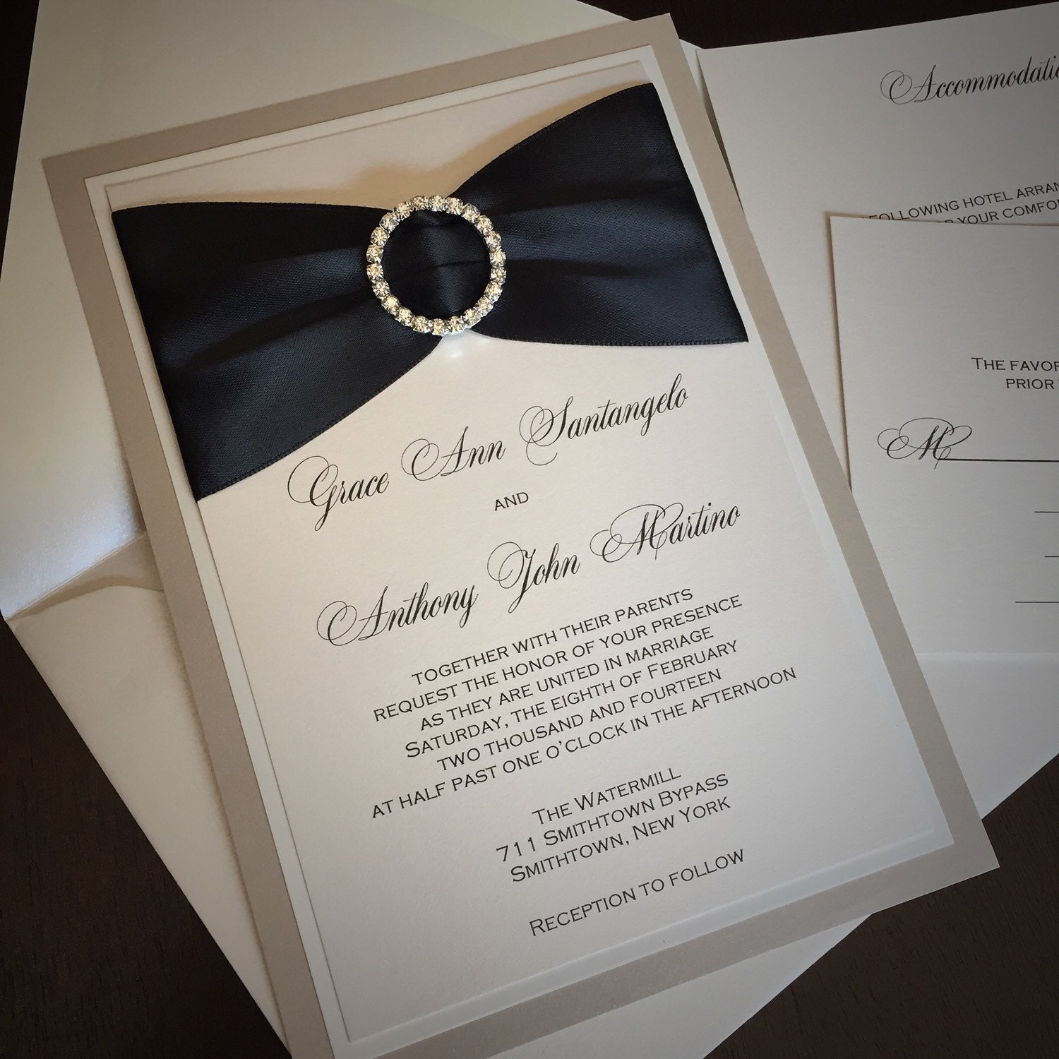 Gold Coast Wedding Invitations: GRACE ANN: Layered Wedding Invitation