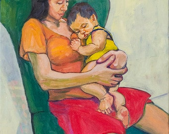 Mother and Child | Original Oil Painting