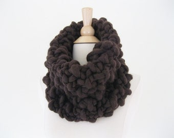 Super Chunky Infinity Scarf | Super Chunky Knit Merino Wool Scarf | Chunky Infinity Scarf | Thick Cowl Scarf