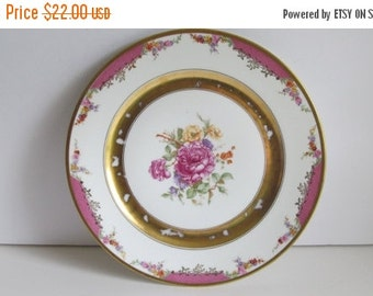 SALE 1924 Rosenthal Bavaria Plate Gold Trim Rose Plate Kings Rose Rosenthal China selb Bavaria China Collectible Plates