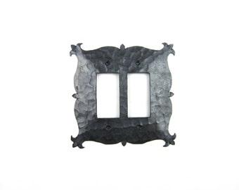 Rustic Mediterranean Iron Double Switch Plate Decora GFI EPH15