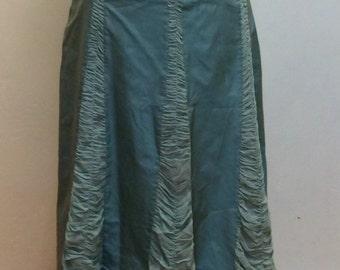 Vintage silk ruffled skirt