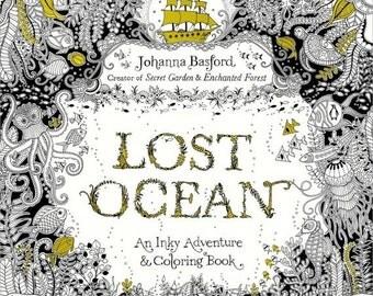 ON SALE Lost Ocean Coloring Book Johanna Basford