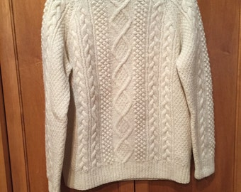 Vintage Hand Knit Fisherman Sweater M