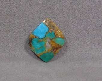 KINGMAN NUGGET TURQUOISE with Bronze Cabochon