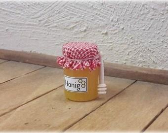 Honey with Spoon