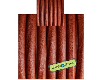 CW06204 - Brick - 0.40 meters x 6mm Round Leather Cord