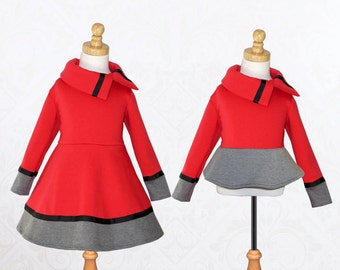 Girls Dress Pattern PDF, Dress Sewing Pattern, Top Sewing Pattern, Childrens Sewing Pattern, Sweater Pattern, Girls Pattern COLORBLOCK