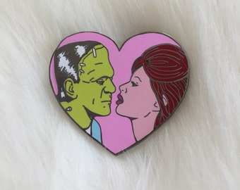 I'm in love with Frankenstein enamel pin 1.5""