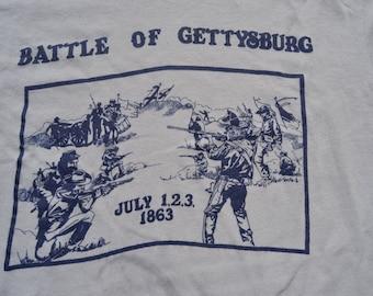 Fantastic Vintage 80's Battle Of Gettysburg T-Shirt