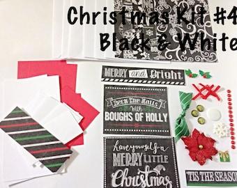 DIY Christmas Card Making Kit - Black & White Themed Kit, Kid's Card Making Kit, Activities For Kids, Christmas Activities for Kids