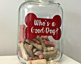 Glass Dog treat Jar - WJ-7