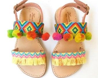 Kids Sandals | Boho Sandals | Leather Sandals | Girls Sandals | Baby Ethnic Sandals ''Belize''