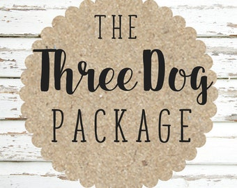 Three Dog Package- 3 Collars & 3 Leashes