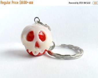 ON SALE Snow White's Poisoned Apple Charm Keychain, or Phone Charm, or Necklace :D