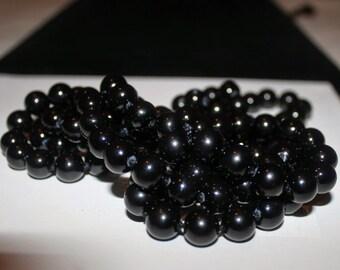 100 10mm Black Mountain Jade Round Beads