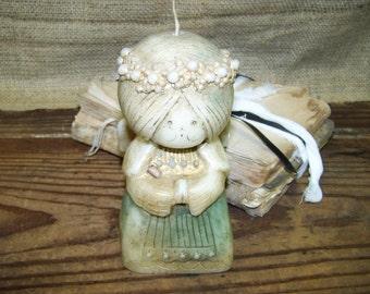 Hallmark Candle Angel Candle Shabby Angel Candle