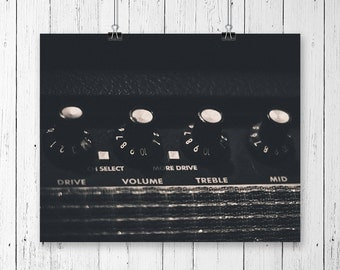 Fender Guitar Amp Music Art Studio Decor Rock n Roll Decor Rock and Roll Art Music Lover Musician's Gift Black and White Gallery Wall Prints