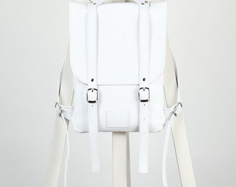 White leather backpack rucksack / To order / White Leather Backpack / Leather Backpack / Leather rucksack / Womens backpack / Christmas Gift