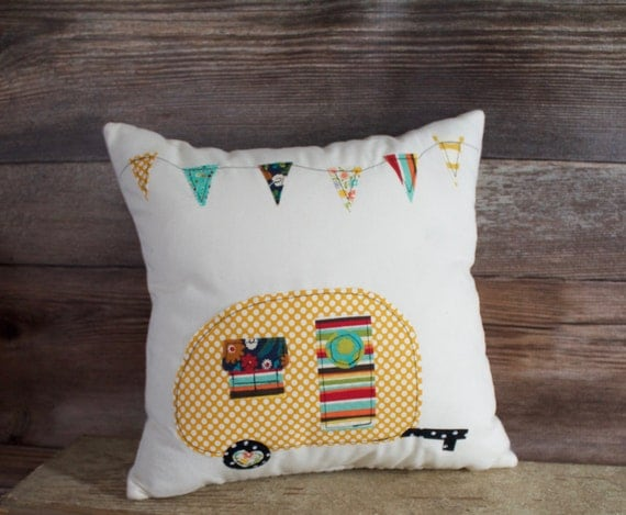 Camper Pillow Vintage Camper Camping Decor By