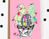 A6 'Cactus tree' Christmas card/ Greetings card/ Festive card/ Seasonal card