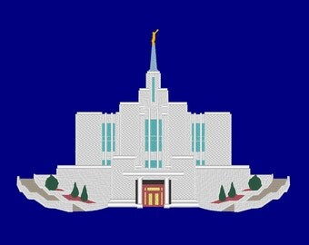 Calgary Alberta Canada Temple Embroidery Machine Design