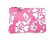 Women's Large Rosary Pouch, Pink and White, Coin Purse, Catholic Gift, Religious