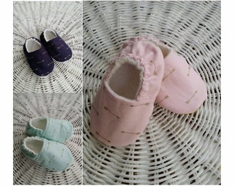Mint Green, Pink, or Navy Slipper/Moccs,  Baby Crib shoes, Toddler Moccs, Kid's Slippers, Women's Soft Sole Slippers, Baby and Women Gift
