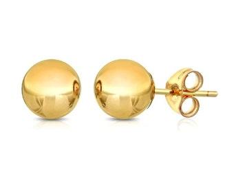 10Kt Yellow Gold Ball Stud Earrings