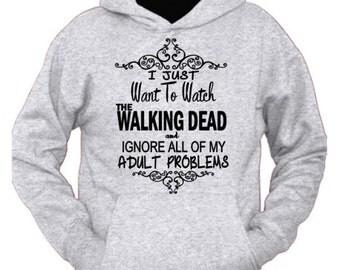 TWD hoodie, The Walking Dead shirt, The Walking Dead Hoodie, Zombie Fan, Comic Con, Walking Dead sweatshirt, Walking Dead,