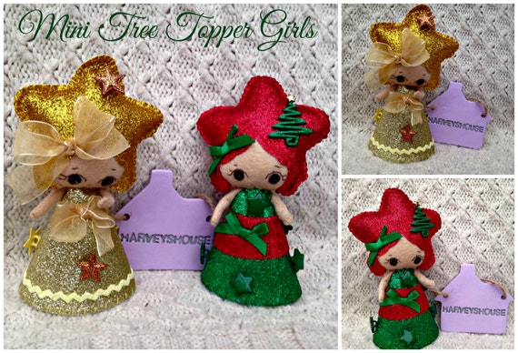 christmas tree topper mini tree topper girls made to order. Black Bedroom Furniture Sets. Home Design Ideas