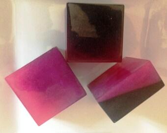 Soap Bar - Black and Pink - Black Raspberry and Vanilla - Goats Milk Glycerine Handmade Soap - SINply Soaps