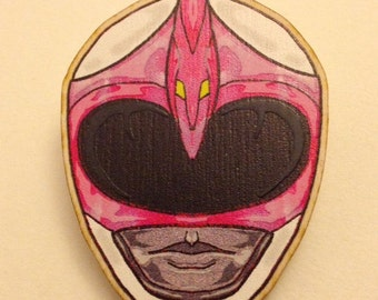 Pink Power Ranger Helmet Brooch