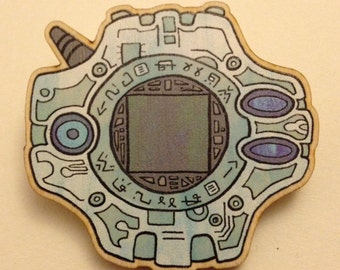 Digimon Digivice Brooch