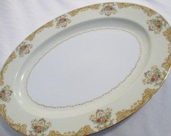 Vintage Noritake China Oval Serving Platter 16 inch