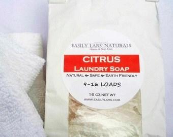 Laundry Soap Natural Vegan 1 lb Eco Friendly Citrus