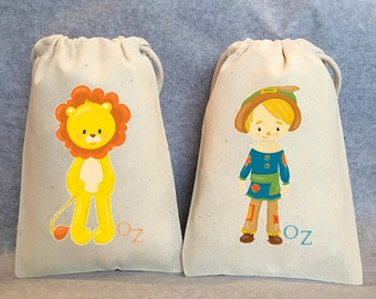 "18 Wizard Of Oz, Wizard of Oz party, Dorothy, Oz, Wizard of Oz Party Favor Bags, 4""x6"""