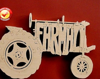 Farmall Tractor Puzzle (Very Detailed) Cut On Scroll Saw