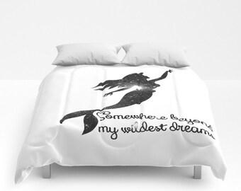 Disney's The Little Mermaid Comforter, Ariel Comforter, The Little Mermaid Bedspread, Somewhere Beyond My Wildest Dreams Comforter