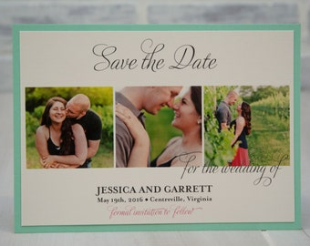 Save the Date card with backing