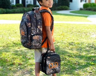 Woods Backpack and Lunch Box and Duffel Bag...personalized FOR FREE just for you.