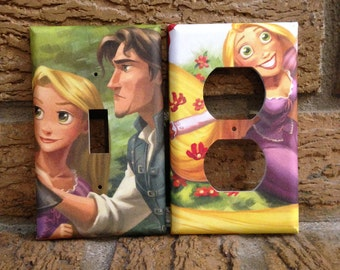 Rapunzel Electrical Outlet and Light Switch Cover Tangled, Tangled Nursery, Tangled Decoration, TAN4