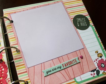 Little Girl Scrapbook, Baby Girl, Ready to Finish Scrapbook, Toddler Scrapbook, Mini Scrapbook