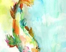 ON SALE Koi Fish Painting, Watercolor Koi, 8 x 10 Print, Print of Koi Fish, Watercolor Fish, Koi Fish Art, Colorful Fish Art, Pri